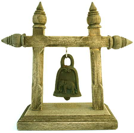 Just in.... Hanging Elephant Bell on Stand