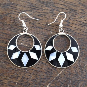 Hilaria Black Earrings