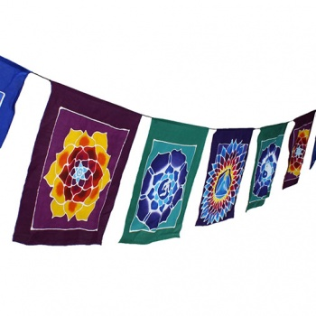 String of Mandala Flags