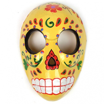 Candy Skull Mask - Custard