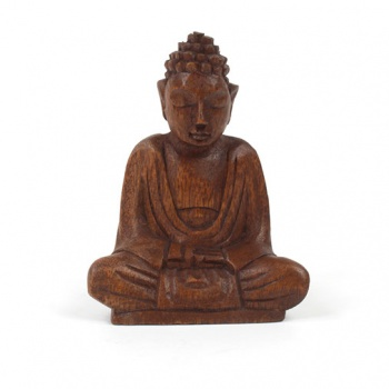 Small Handcarved Sitting Buddha