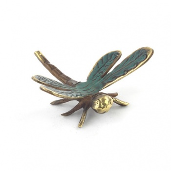 Bronze Dragonfly Charm