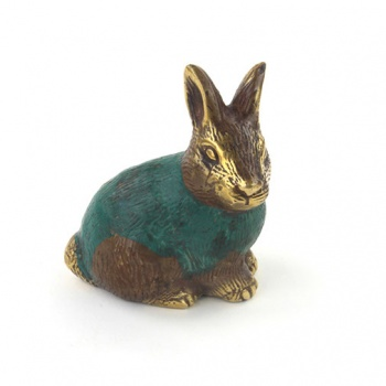 Bronze Rabbit Charm
