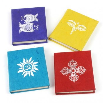Pack of 4 Mini Lokta Paper Books