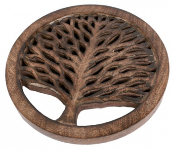 Trivet Tree of Life Mango Wood