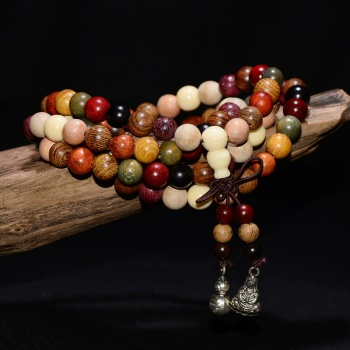 Cindiry 6mm Natural 108 beads Variety SandleWood Prayer Bead Bracelet