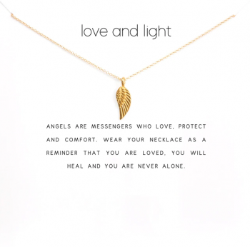 Lucky Charm Necklace - Love and Light Gold