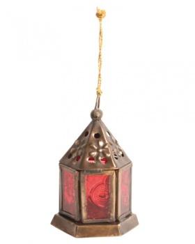 Lantern Mini Hexagonal Red