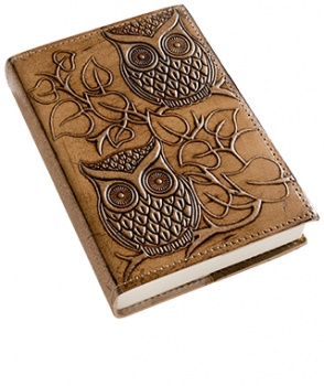 Small Leather Owl Notebook