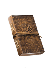 Small Tree of Life Embossed Leather Notebook