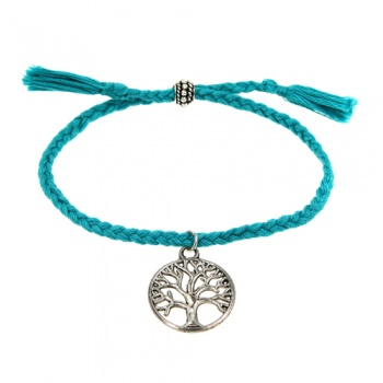 Bracelet tree of life silver colour charm