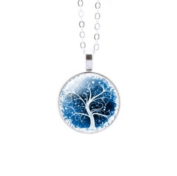 Round Colourful Tree of Life Pendant 2