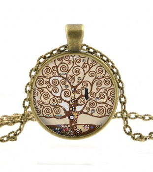 Retro Vintage Tree of Life  Bronze Pendant Necklace
