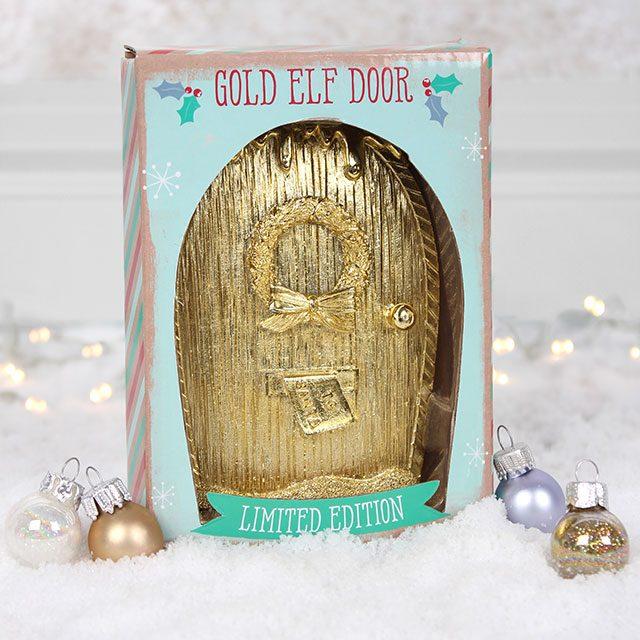 Limited edition gold elf door for Works elf door