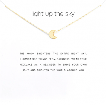 Lucky Charm Necklace -Light up the sky Gold