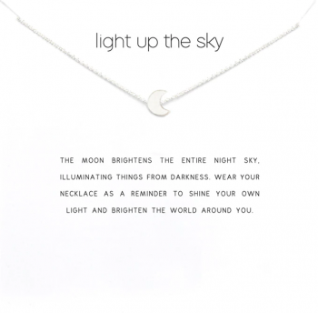 Lucky Charm Necklace -Light up the sky Silver