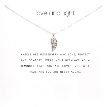 Lucky Charm Necklace - Love and Light Silver