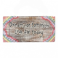 Wooden Dream for Tomorrow Plaque