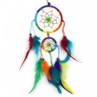 Medium Bright Rainbow Dreamcatcher