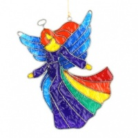 Large Rainbow Angel Suncatcher