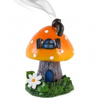 Orange Smoking Toadstool Incense Holder