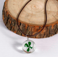 Lucky Charm Necklace - Four Leafed Clover