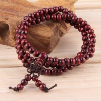 6mm Natural Sandalwood 108 beads Wood Prayer Bead Bracelet Brown
