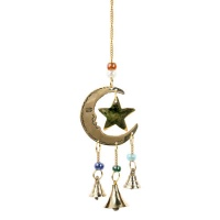 Brass Chime Moon and Star