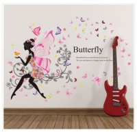 Butterfly Fairies Girl Art Decal Wall Stickers