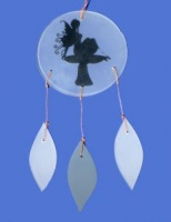Sitting Fairy Glass Chime