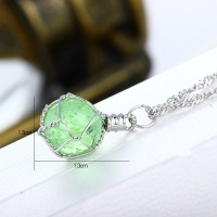 Green Luminous Crystal Ball Glow In The Dark Necklace