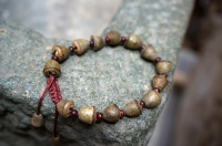 Buddhist Prayer Beads Mala Bracelet - Eucalyptus Seeds