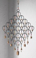Large Recycled Iron Windchime, Bells and Beads