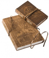 Tree of Life Embossed Large Leather Notebook