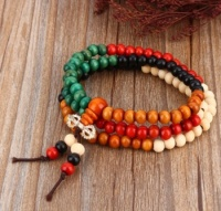 6mm Sandalwood Buddha 108 Prayer Bead Mala Bracelet / Necklace