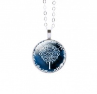 Round Colourful Tree of Life Pendant 3