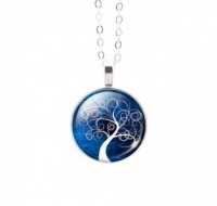 Round Colourful Tree of Life Pendant 5
