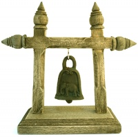 Single Elephant Bell on Stand