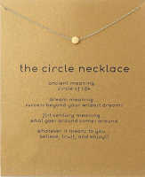 Lucky Charm Necklace - Circle Gold