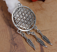 Flower of Life Dreamcatcher Pendant